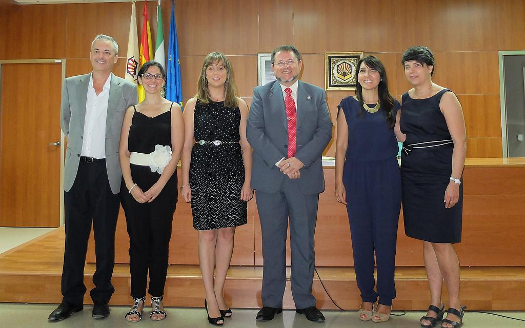 Tribunal y directores con Teresa Blanco