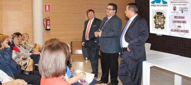 Inauguración de curso de la Cátedra Intergeneracional en Priego de Córdoba