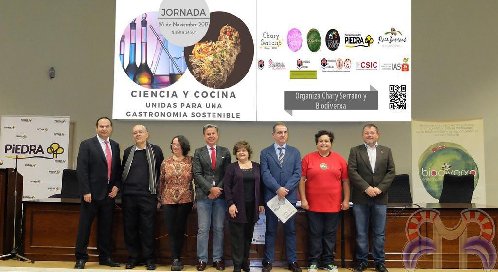 Participantes en la Jornada de Ciencia y Cocina para una Gastronomía Sostenible.