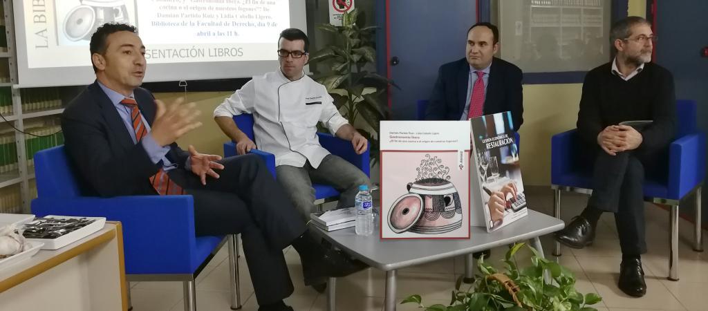 Dos libros relacionados con la Gastronomía presentados en la facultad de Derecho.