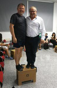 Moreno y Esparza en un cajón